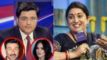 LOL! Smriti Irani Guffaws Over Arnab Goswami's Sunny Leone And Sunny Deol Mix-Up