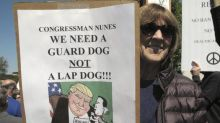 Devin Nunes returns home to protests over his Trump ties