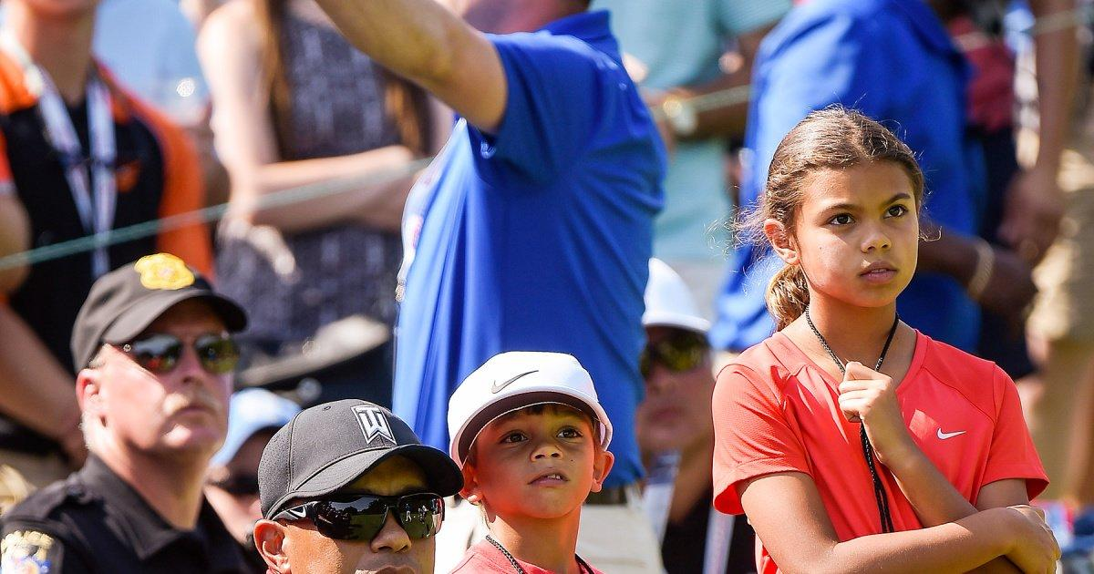 tiger woods u0026 39  kids are his biggest supporters  see their cutest sideline moments through the years