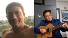 Leonardo faz homenagem para Tom Veiga e canta 'Não Aprendi a Dizer Adeus'