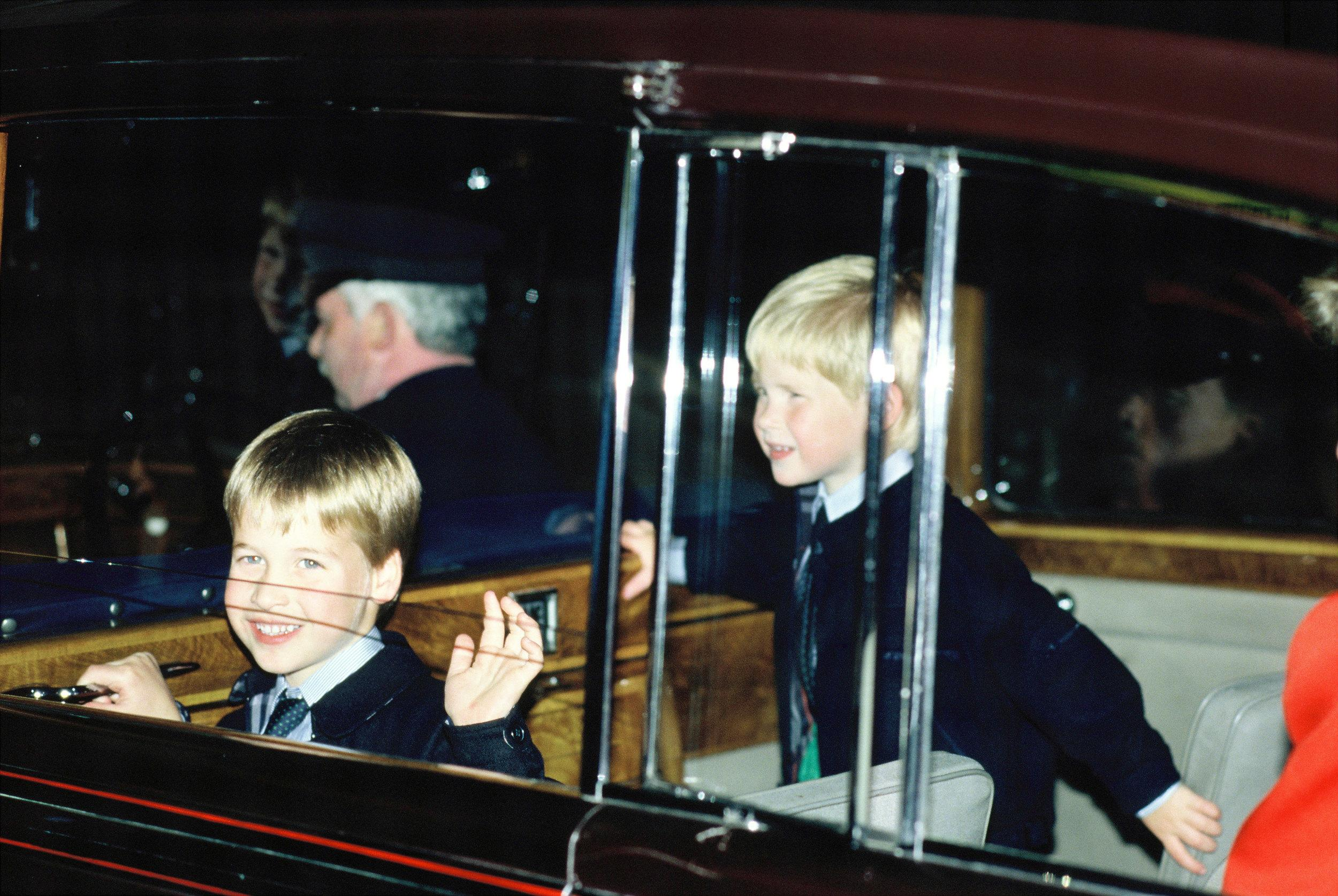 LONDON, UNITED KINGDOM - JULY 28:  Prince William and Prince Harry at the Royal Tournament in Earls Court on July 28, 1988 in London, England.  (Photo by Georges De Keerle/Getty Images)