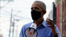 """""""Je n'ai jamais perdu l'espoir"""": Obama entre en campagne pour Biden"""