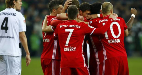 Foot - ALL - Le Bayern Munich s'impose à Mönchengladbach et fait un pas de géant vers le titre