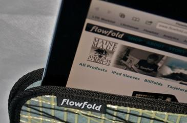 Flowfold iPad sleeve: a water-resistant case with an eco-friendly footprint
