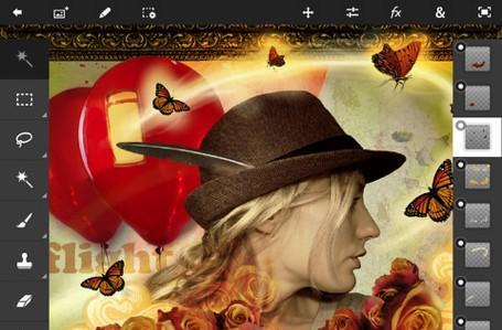 Photoshop Touch adds pressure-sensitive stylus support, iPad Mini optimization