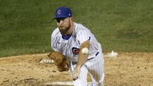 Kimbrel shaky again, Cubs hold off Royals for 5th win in row