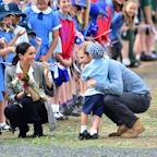 The Cute Story Behind Why Little Boy Stroked Prince Harry's Beard During Trip Down Under