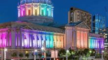 Skyscrapers, city halls, bridges across US lit up in honor of LGBT Pride