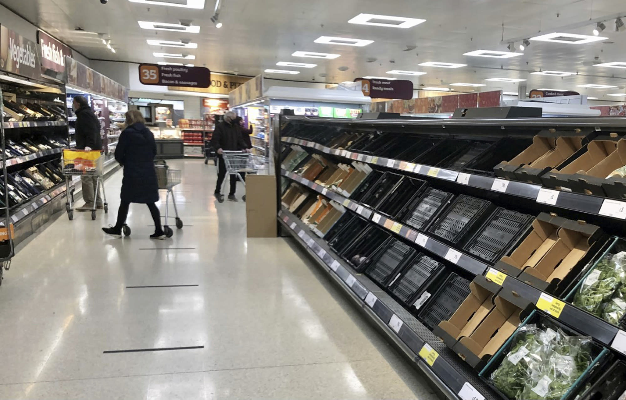NIreland stores see empty shelves as Brexit trade rules bite