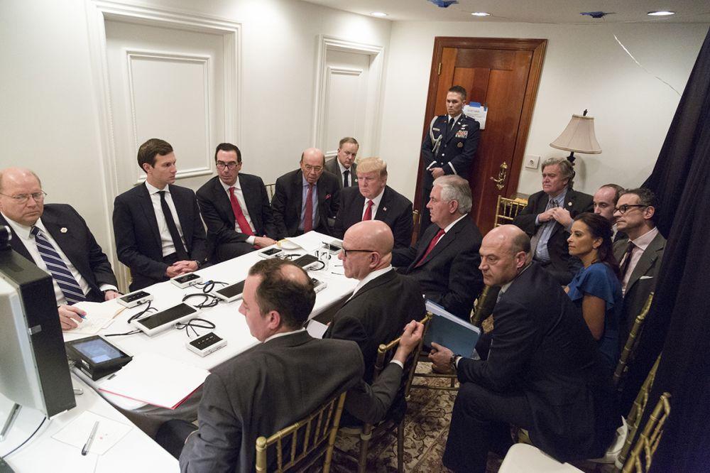 Trump receives a briefing
