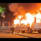 NYPD Van Burned, Rocked by Protesters in Brooklyn