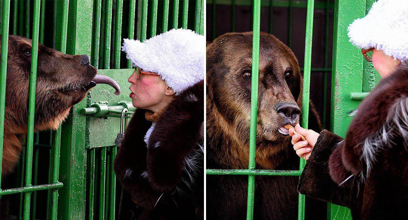Woman famous for kissing bears mauled outside enclosure