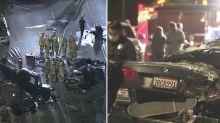 BMW driver killed as car 'disintegrates' in horrific 'street race' crash
