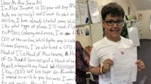 Qantas Airways responds to letter from 10-year-old who wants to start his own airline