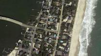 Before and after aerial pics along east coast