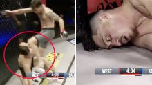 MMA fighter shows off sickening aftermath of illegal knockout