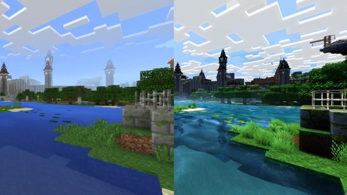 Así de diferente se ve Minecraft en su versión 4K