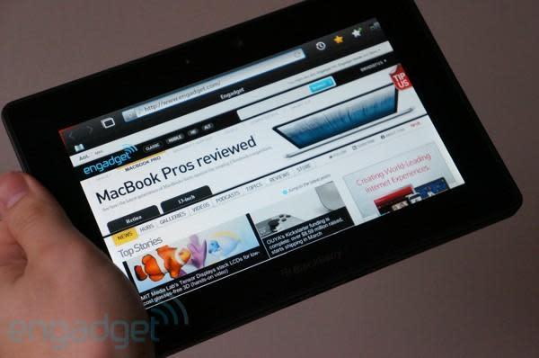BlackBerry PlayBook 4G LTE hands-on
