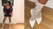Rihanna wears £885 Gucci socks, as one does