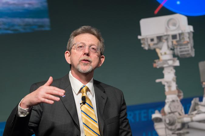 NASA Chief Scientist Jim Green speaks about the Curiosity Mars rover on its first anniversary