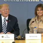 President Trump Praises Melania for Staying 'So Cool' During Plane Mishap