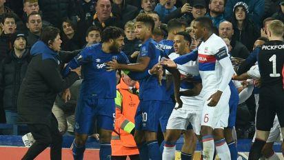 Police probe crowd trouble at Everton-Lyon game