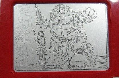 By golly, it's a Etch A Sketched Big Daddy