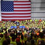 Trump factory speech crowd members were paid to listen to him and banned from 'anything viewed as resistance'