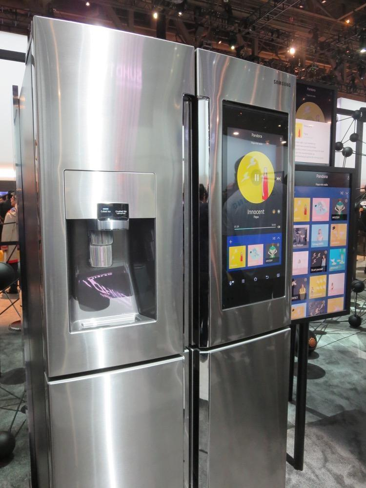 samsung s family hub smart fridge would you believe it. Black Bedroom Furniture Sets. Home Design Ideas