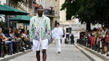 Blooming marvellous! Paris men's fashion goes all flowery