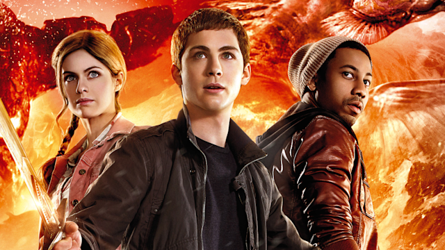 Logan Lerman and Nathan Fillion on Percy Jackson Sea ofMonsters