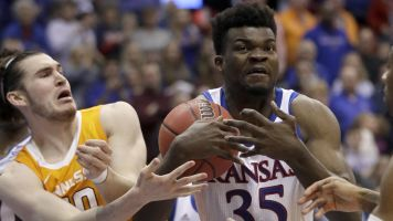 Life after brawl: Kansas holds off Tennessee rally