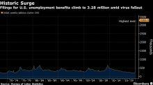U.S. Jobless Claims Jump to 3.28 Million, Quadruple Prior Record