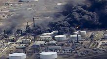 Agency: Refinery fire caused by blast debris hitting tank