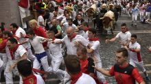 2018 San Fermin running of the bulls festival in Pamplona, Spain