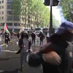 Tear gas fired at pro Palestinian demo in Paris