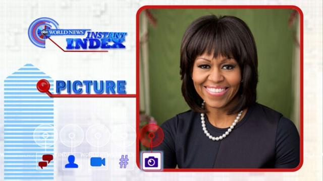 Instant Index: Michelle Obama Tweets About New Portrait