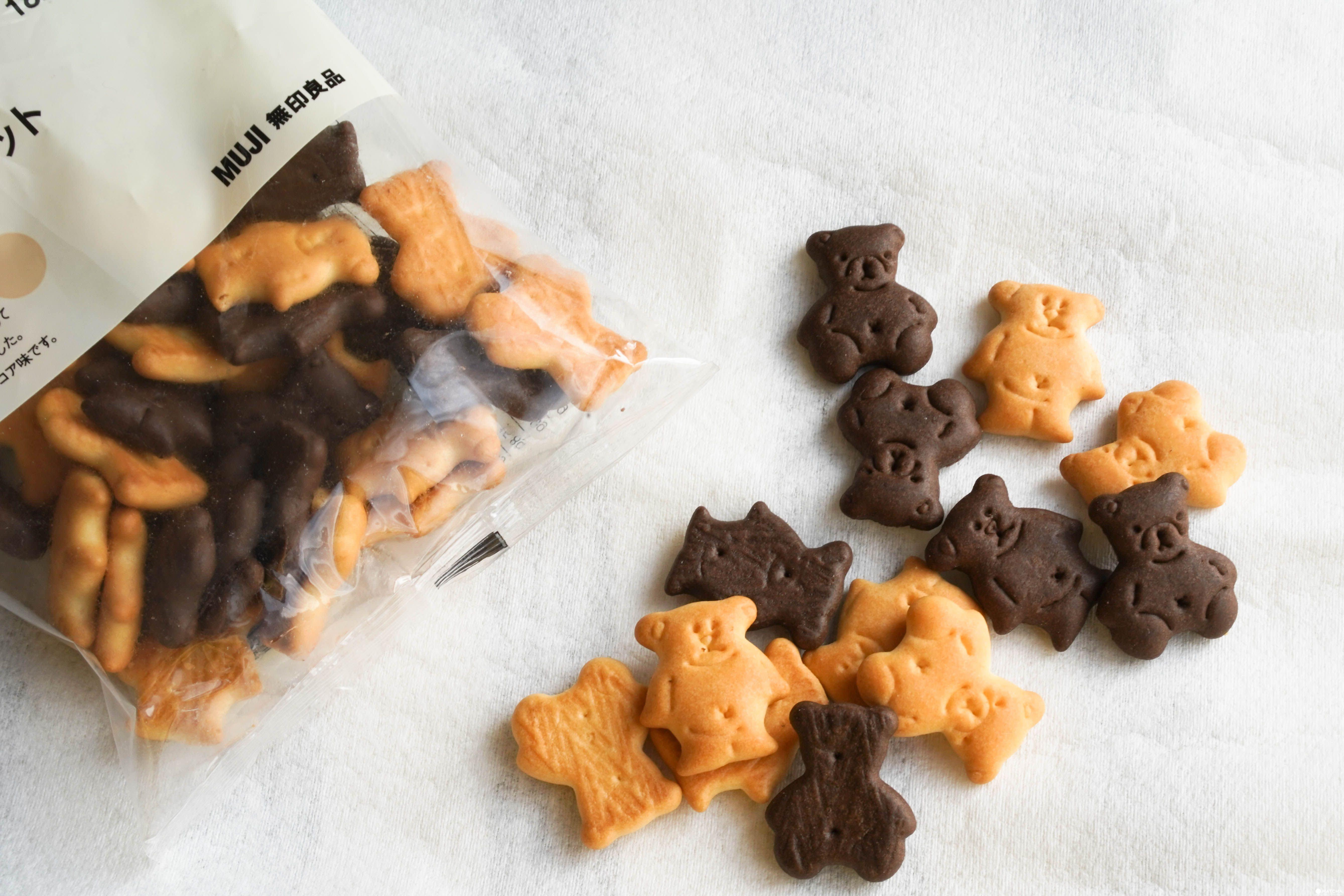 MUJI 無印良品小熊餅乾