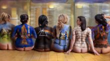 Curvy women bare all to recreate Pink Floyd's famous 'Back Catalogue' poster