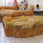 Egypt unveils 3,000-year-old wooden coffins in Luxor