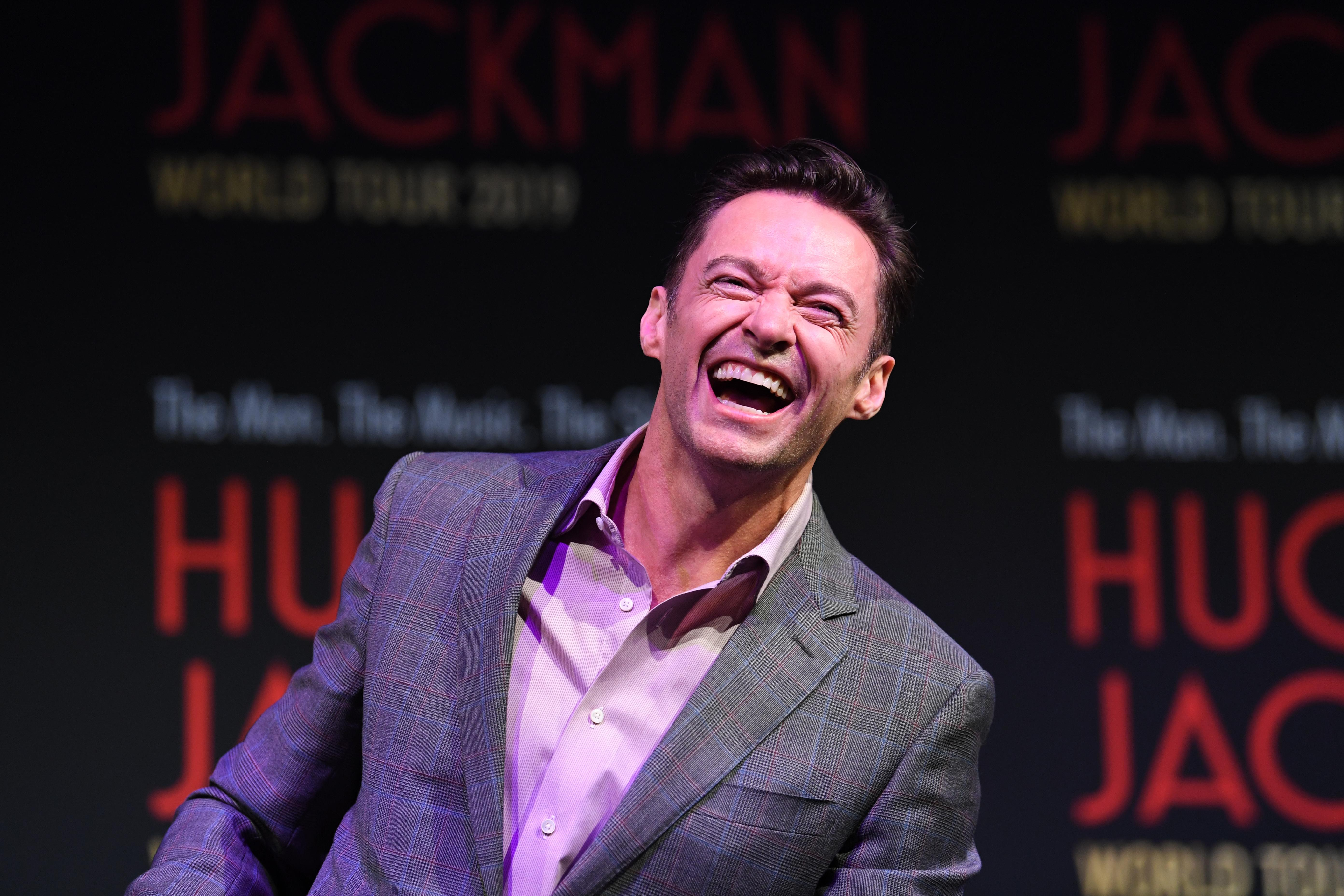 Hugh Jackman spends Valentine's Day doing a jigsaw of him and his wife