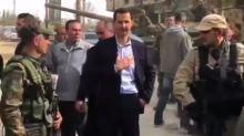 Syrie : Bachar Al-Assad auprès de l'armée dans la Ghouta