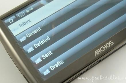 Archos 5 and 7 firmware update knocks email out of beta