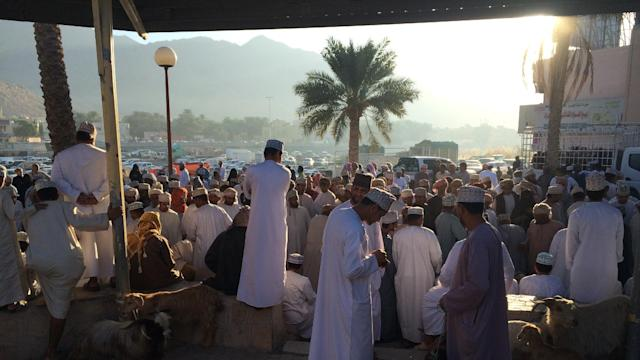 Bartering for Goats and Cows at Nizwa Cattle Market on 'A Broad Abroad'