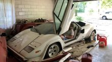 Dusty Lamborghini Countach uncovered after decades