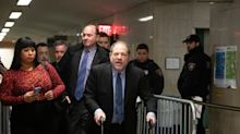 """Harvey Weinstein Denies His Walker Is """"A Prop"""", Tells Reporters """"I'll Have A Race With You"""""""