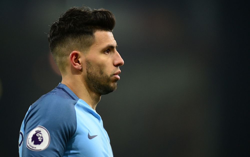 Sergio Aguero will be hoping to score at least 14 goals against Liverpool. He's one of life's optimists - Copyright (c) 2017 Rex Features. No use without permission.