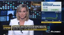 Gun maker American Outdoor Brands jumps on strong earning...
