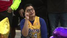 Emotional scenes at Kobe Bryant memorial in Los Angeles