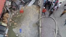 快新聞/永和工地前現150平方公尺坍塌 上百居民疏散
